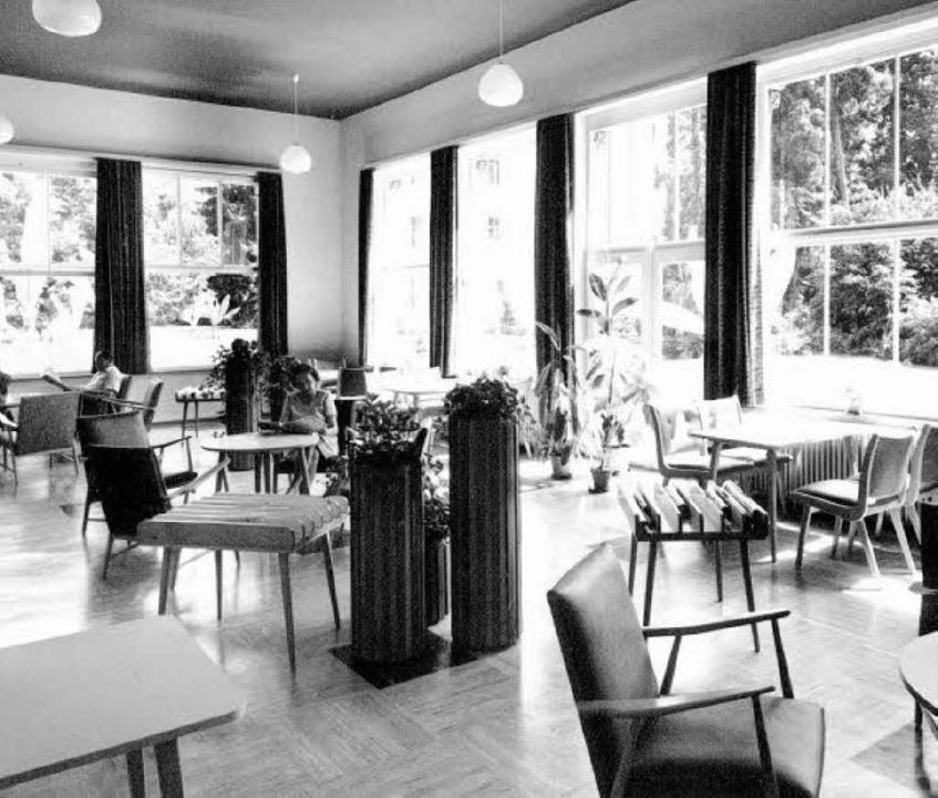 Von 1961 bis 1971 war der Pavillon   eine Lesehalle.     Foto: Stadtarchiv
