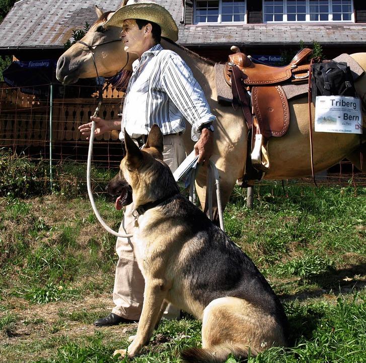 <Bildtext>Der Pferdeflüsterer Hans Sch...nen Unterkunft in Titisee  </Bildtext>  | Foto: Marion Pfordt