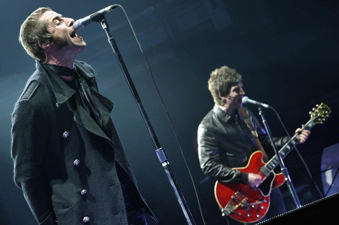 Nicht am Start, aber in aller Munde: L...e beiden Köpfe der Britpop-Band Oasis.  | Foto: ddp