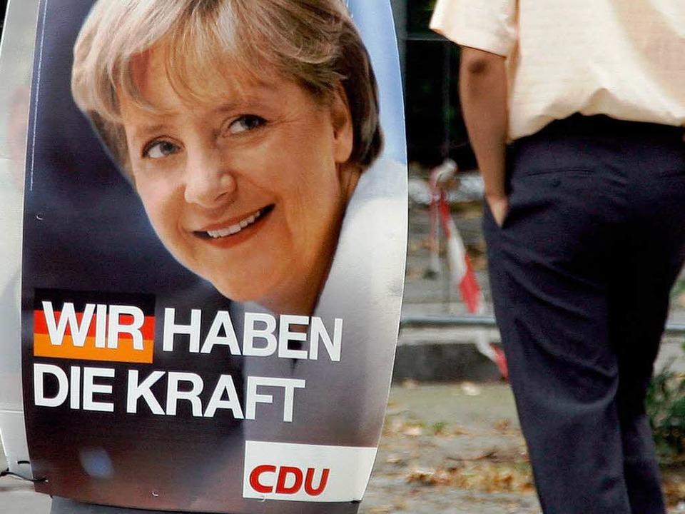 Wahlplakat der CDU: Hat die Piratenpartei den Slogan gekapert?  | Foto: dpa
