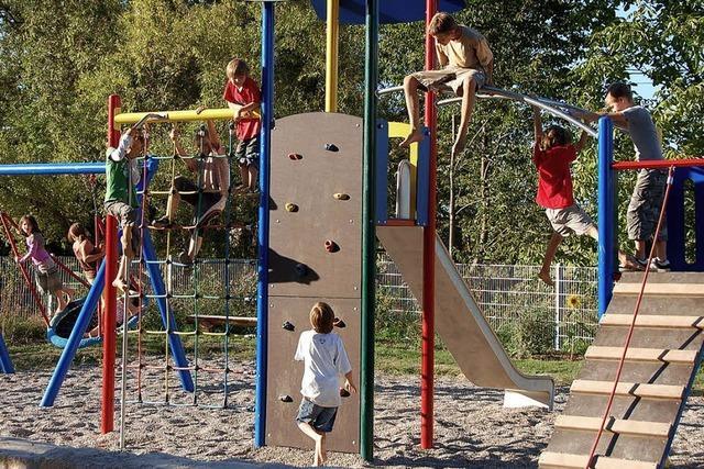 Neuer Spielplatz wird beim Brunnenfest eingeweiht