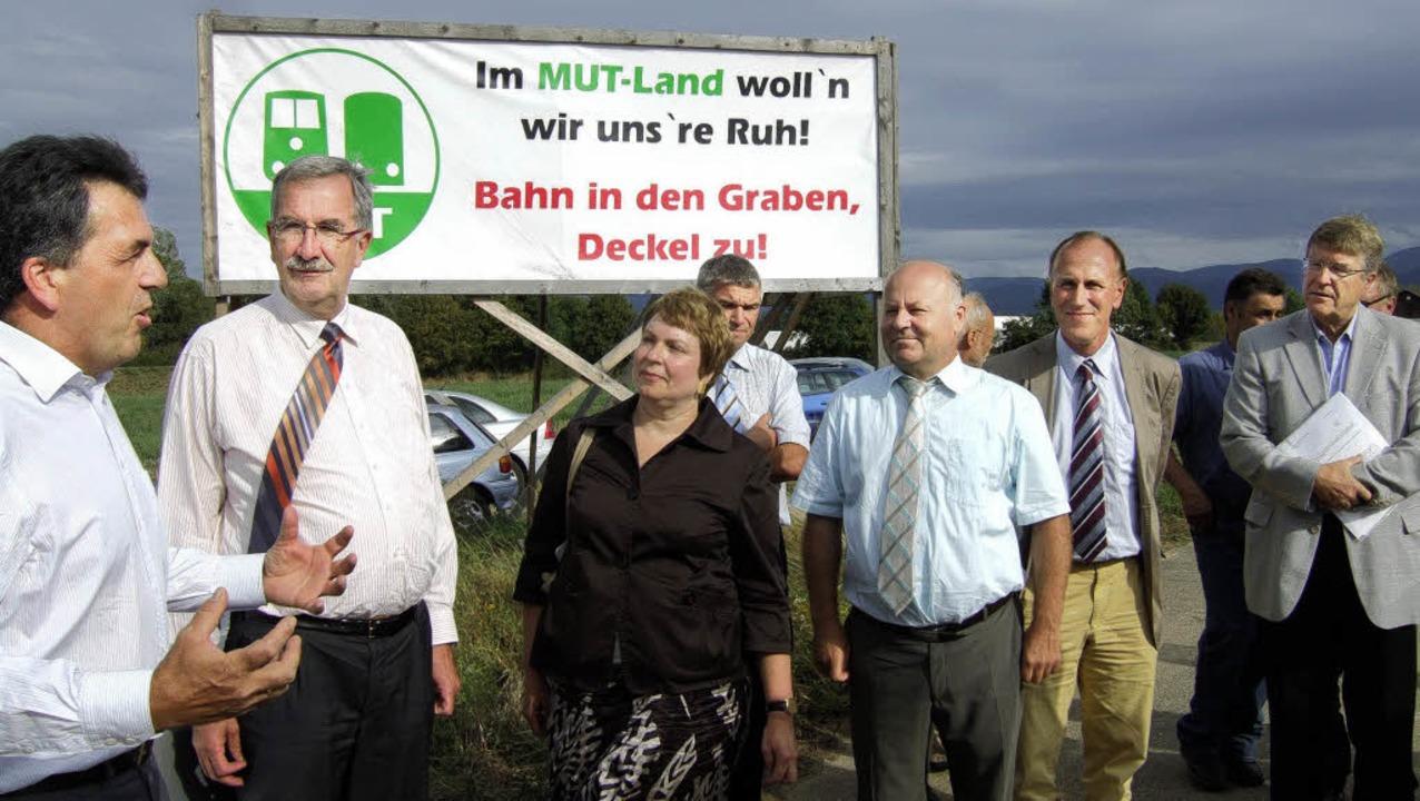 Gesprächen zur geplanten Neubaustrecke... und MUT-Vorsitzender Roland Diehl.     | Foto: Susanne Müller