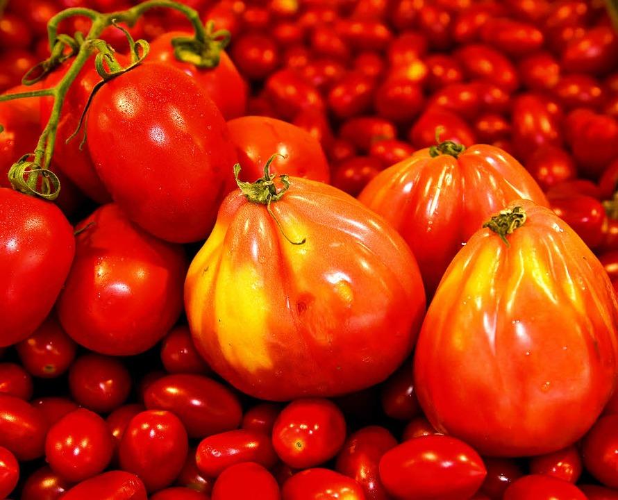 Außen rot  und innen fleischig sind sie fast alle: Tomaten  | Foto: dpa