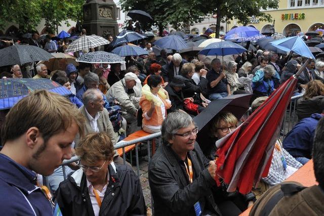Wahlkampf in Freiburg: Der Wettergott ist unparteiisch