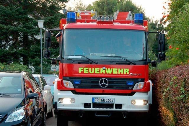 Zu viele Hindernisse für die Feuerwehr