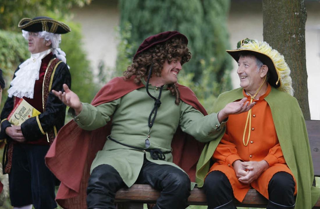 Talent ist eben Talent: Schuttertäler ...Bühne im Seelbacher Klostergarten mit.  | Foto: Heidi Foessel