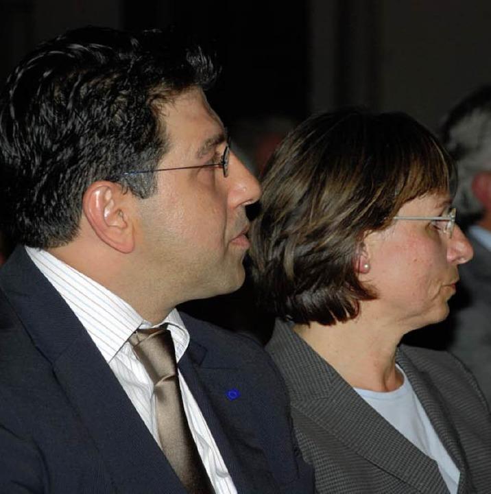 Badr Mohammed mit Edith Schreiner   | Foto: Gertrude Siefke