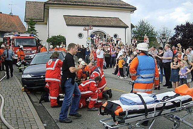 Simulierter Unfall findet Anklang