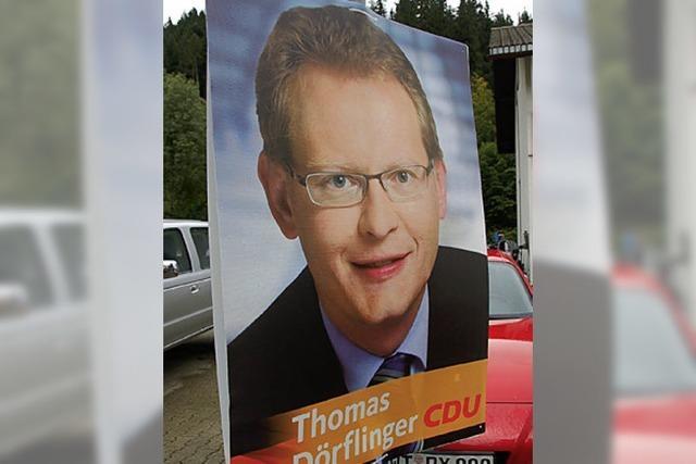 Wahlkampf am Straßenrand