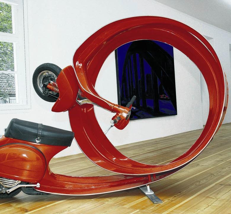 Vespa-Locke:  Auch skurrile Objekte warten auf die Besucher.    | Foto: KRICKL