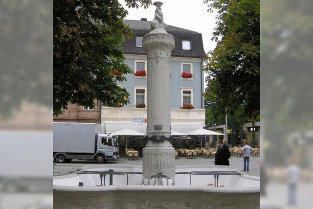 Brunnen frisch renoviert