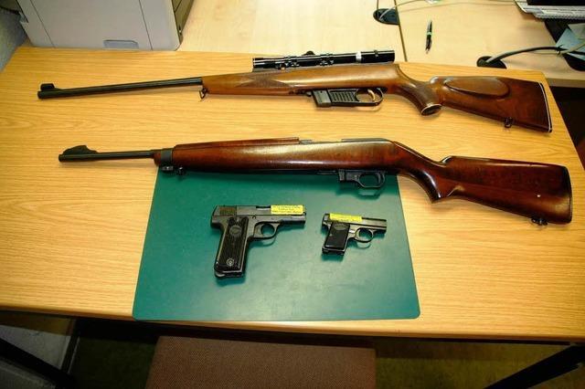 Jeder 50. Rheinfelder hat eine Waffe