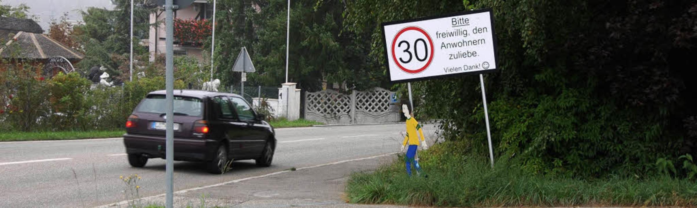 Noch müssen die Anwohner auf das freiw...Entgegenkommen der Autofahrer setzen.   | Foto: Frey