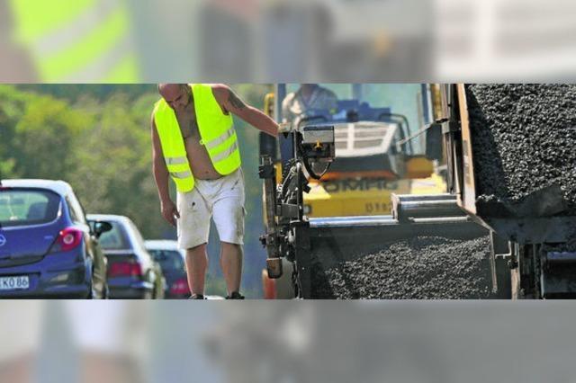Konjunkturhilfe belebt Straßenbau