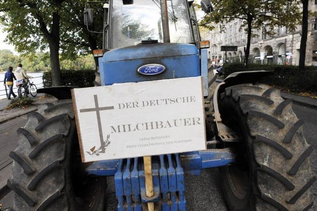 Milchbauern-Konvoi durchs Höllental – Aktionen in Freiburg und Offenburg