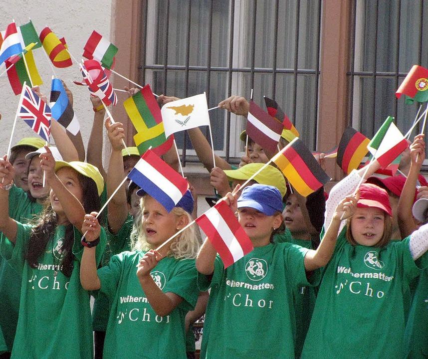 Der Chor der Weihermattenschule trug z...n schon traditionellen Veranstaltung.   | Foto: michael gottstein