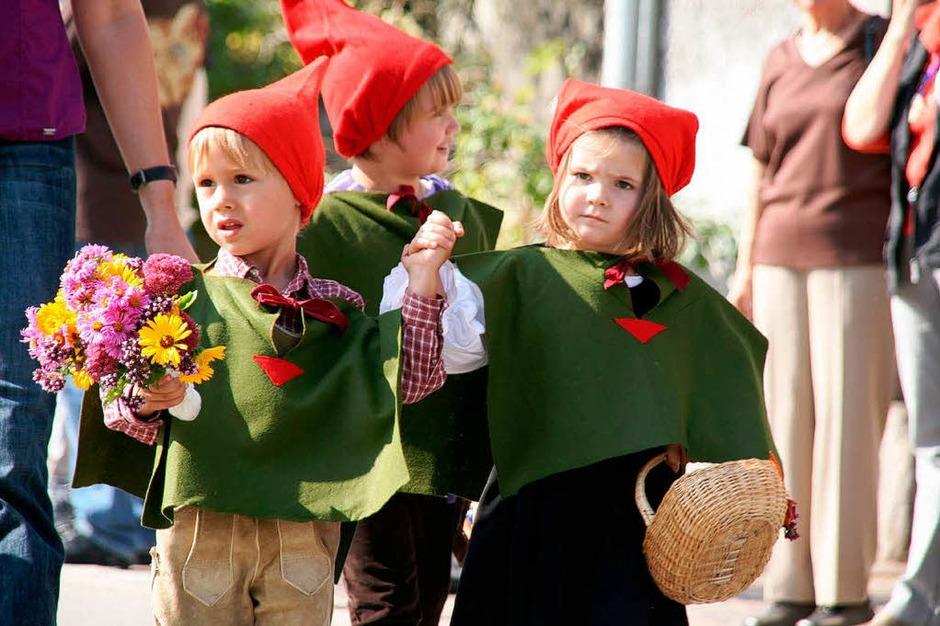 Herbstlicher Sonnenschein und einfallsreiche Kostüme machten den Umzug zu etwas Besonderem. (Foto: Peter Schütz)