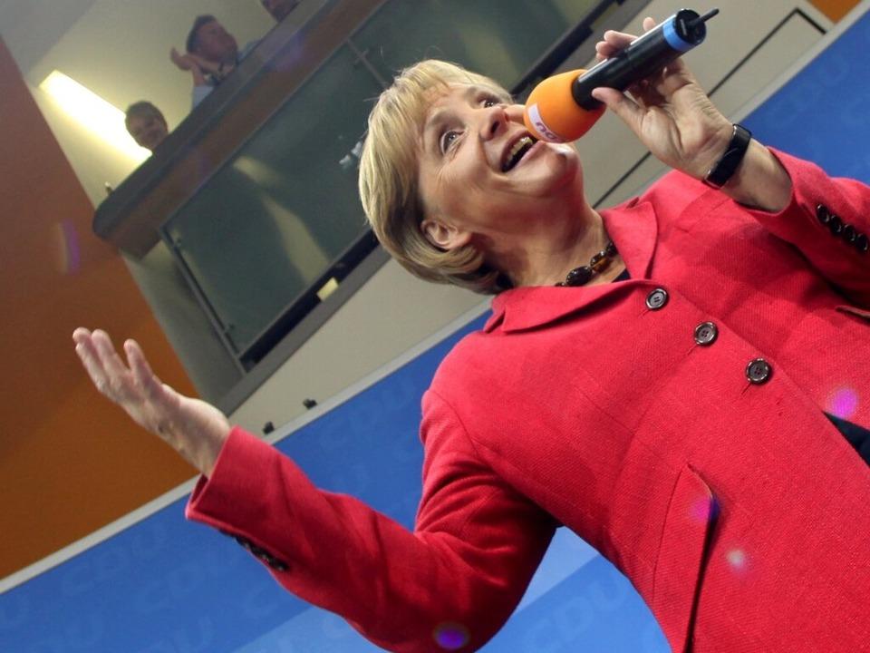 Alte Kanzlerin, alte Kanzlerin: Angela Merkel.    Foto: dpa