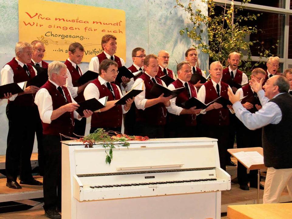 Der Männergesangverein aus St. Märgen erfreute die Konzertbesucher  | Foto: Chris Seifried