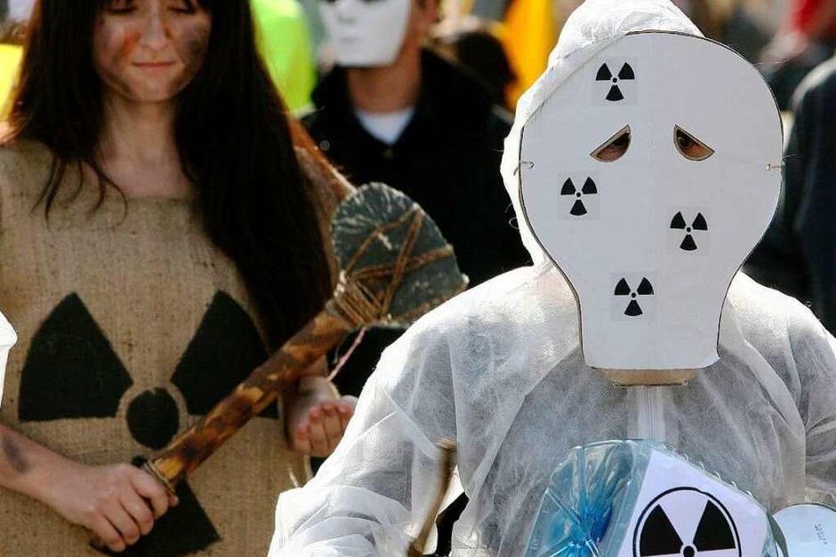Bei der Großkundgebung gegen Atomkraft in Colmar kamen Tausende zusammen. (Foto: dpa)