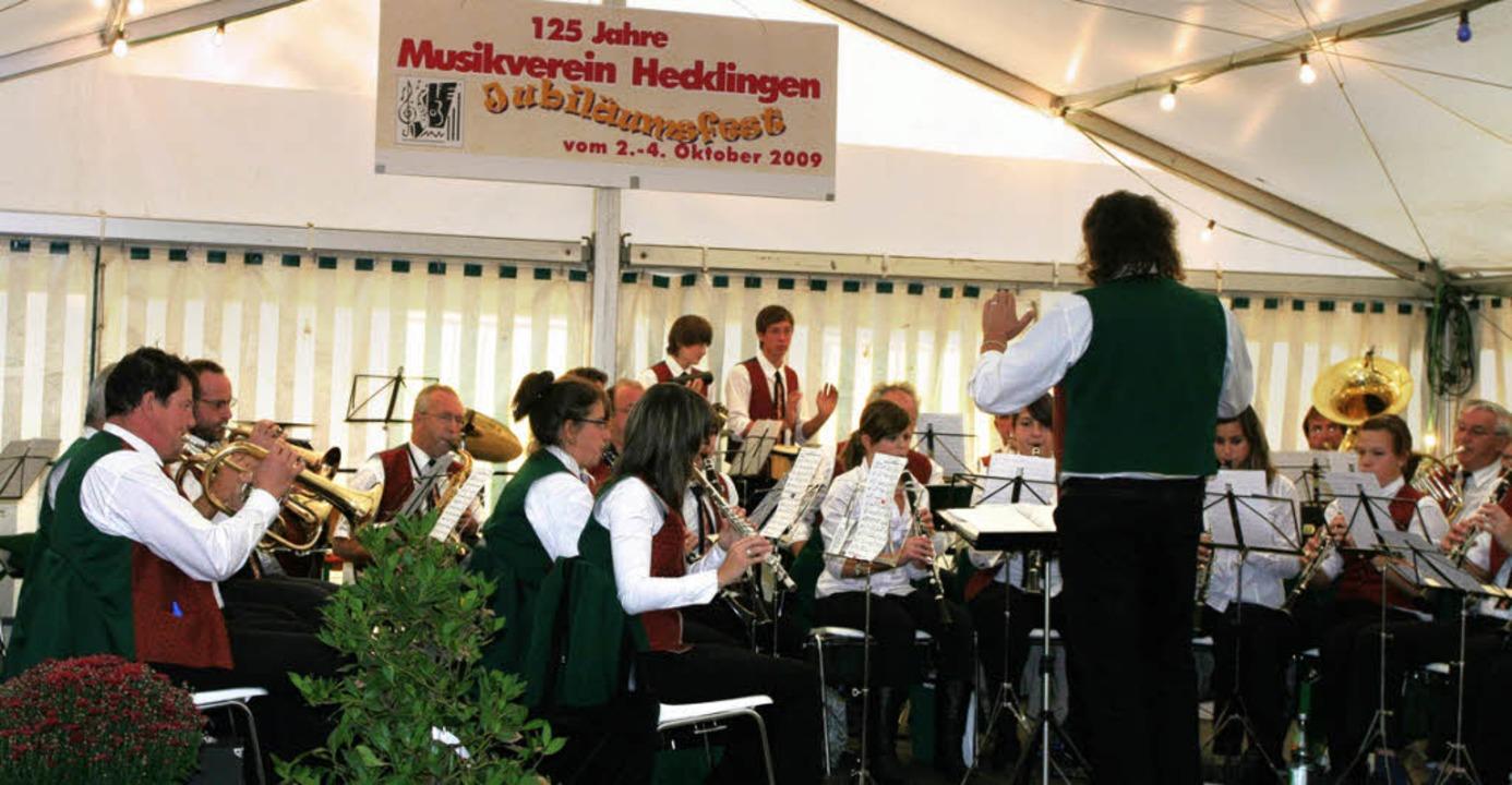 Der MV Nordweil bei seinem  Auftritt in Hecklingen  | Foto: Eberhard Kopp