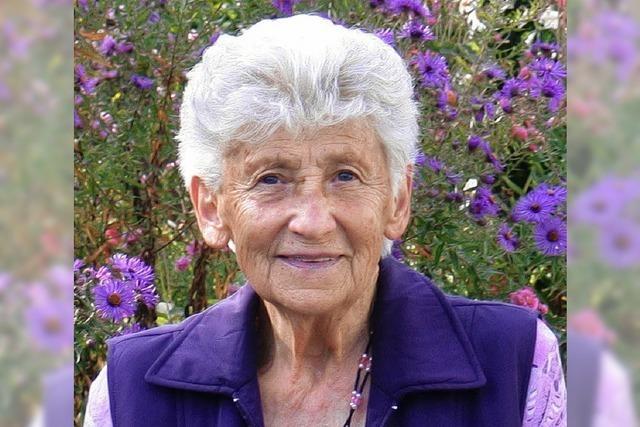 Anna Binninger ist 80