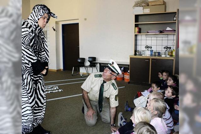 Verkehrsregeln mit dem Zebra