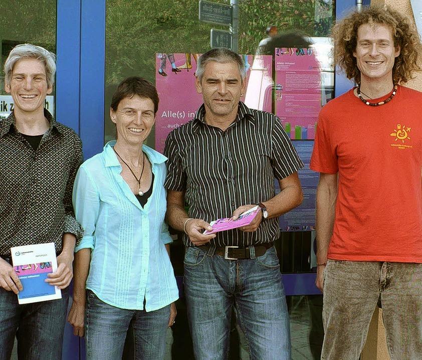 Das Lebenshilfe-Team (von links): Alex...ach, Thomas Schrecker und Norbert Held  | Foto:  Mildenberger
