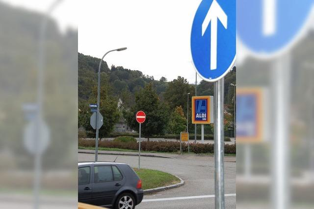 Keine Einfahrt in Bernhardstraße