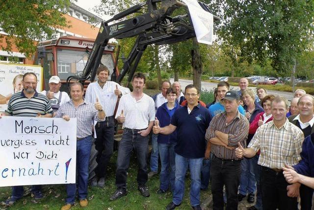 Milchbauern protestieren weiter gegen billige Milch