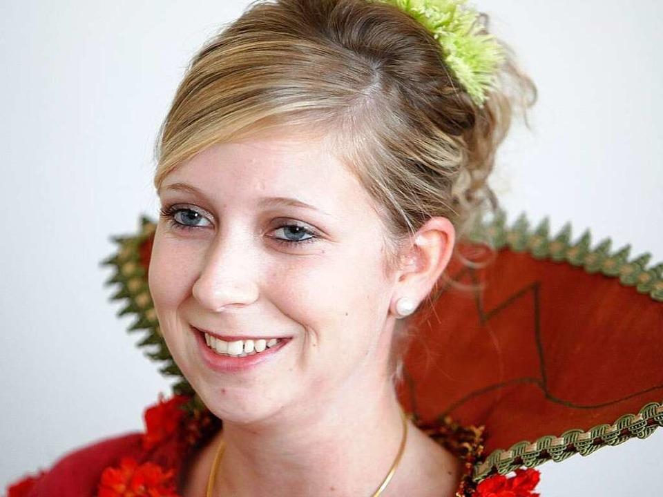 Marion I. ist die Chrysanthemenkönigin  2009/10 in Lahr.  | Foto: Christoph Breithaupt