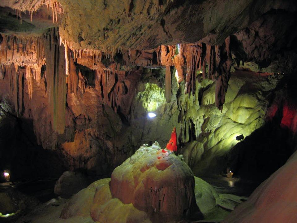Welt der Stalaktiten und Stalagmiten: die Höhlen von Bétharram in Südfrankreich   | Foto: Gerhard Kiefer