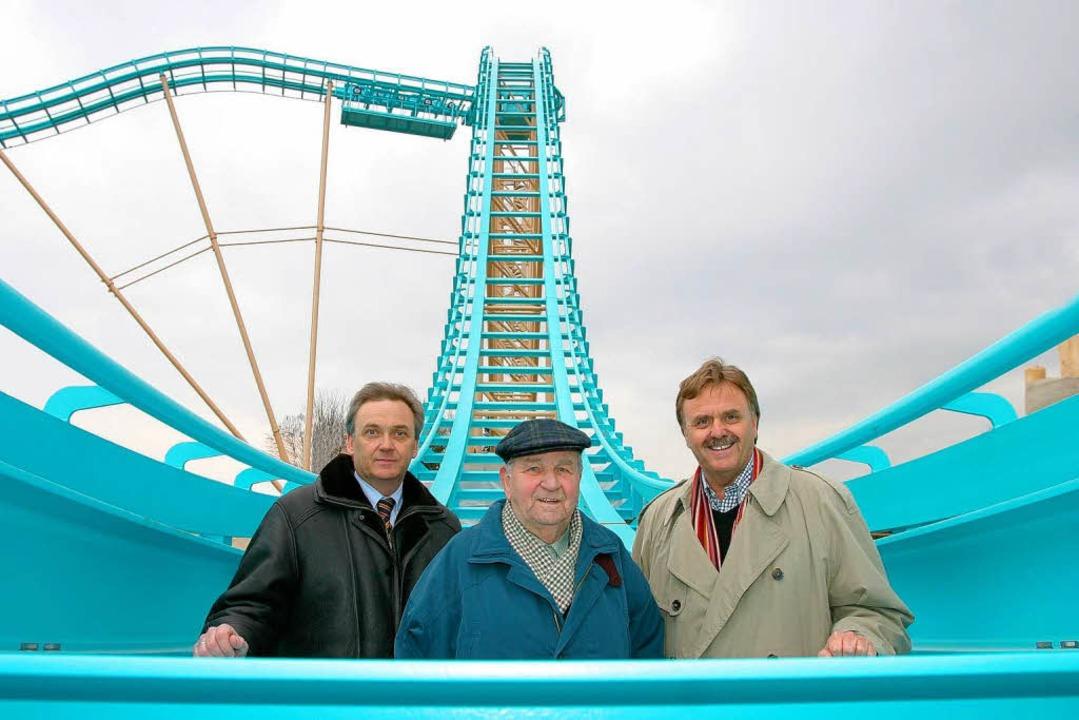 Jürgen, Franz und Roland Mack (links) im Europa-Park.  | Foto: Europa-Park