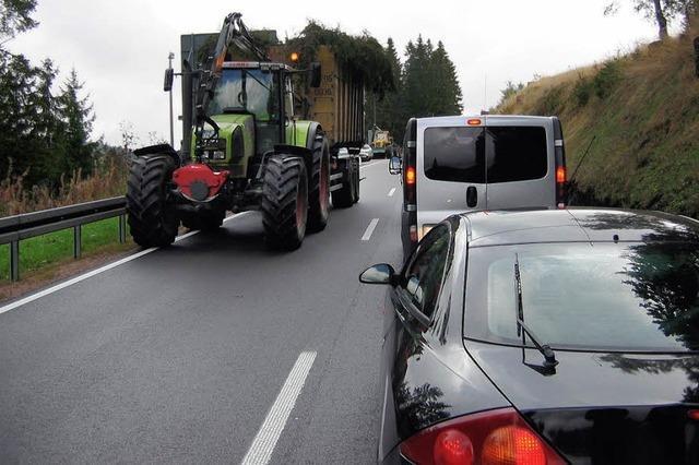 Forstarbeiten führen zu Verkehrsbehinderungen