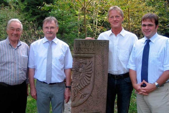 Bürgermeistertreffen am Dreimärkerstein