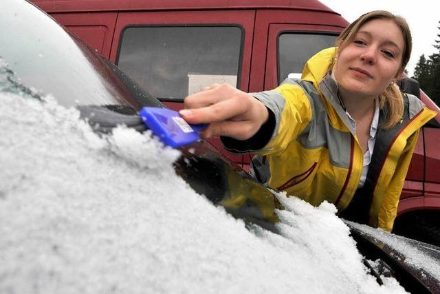 Video: Erster Schnee auf dem Feldberg