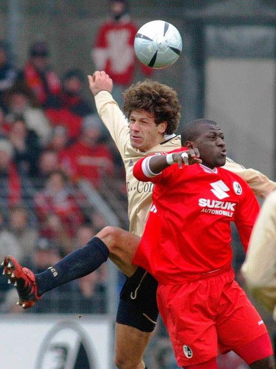 Demichelis gegen Coulibaly: Das bisher...m Februar 2005 wurde mit 0:1 verloren.    Foto: A3446 Patrick Seeger