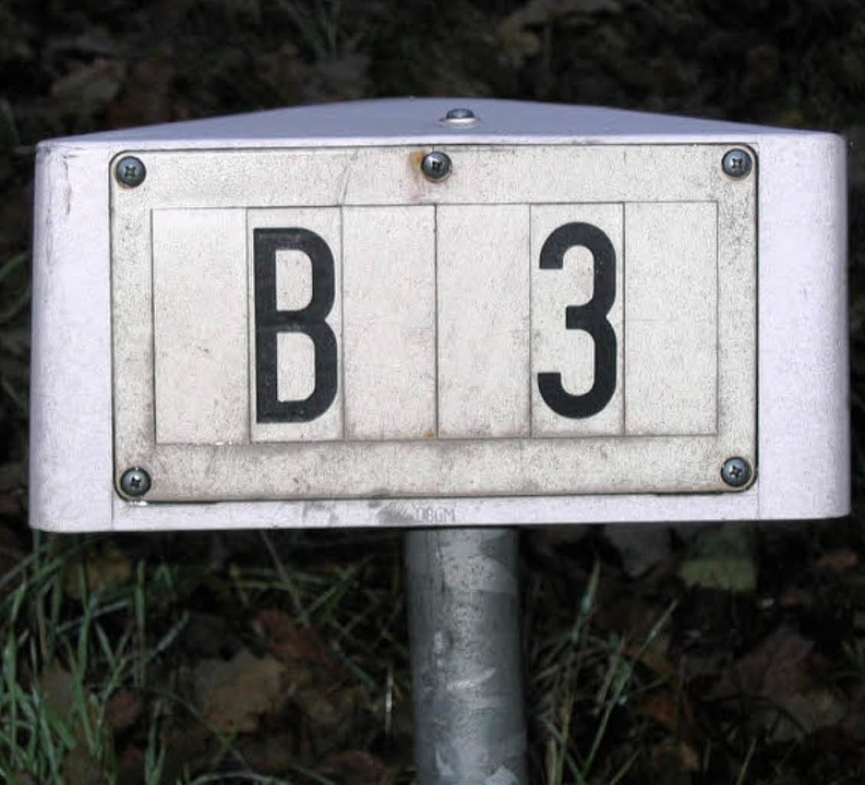 Die B3: Das Planfeststellungsve...die Umfahrung Schallstadt ruht weiter.  | Foto: andrea gallien