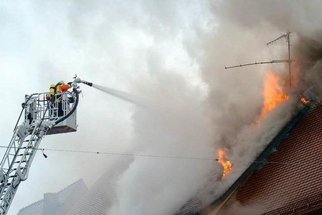 Großbrand in Kenzinger Innenstadt