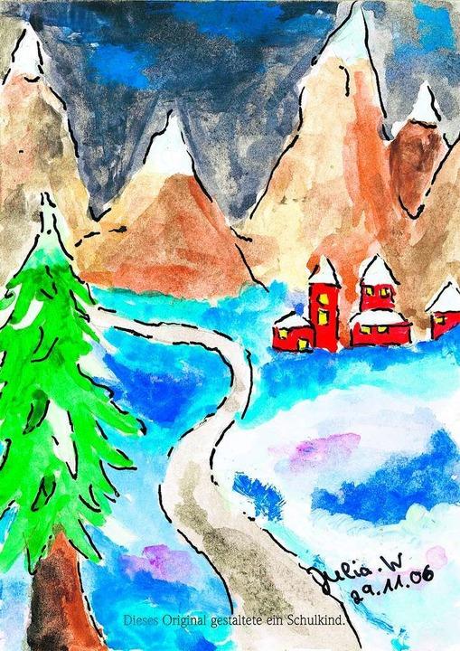 Weihnachtskarten Malen.Weihnachtskarten Malen Kinderlächeln 2012 Badische Zeitung