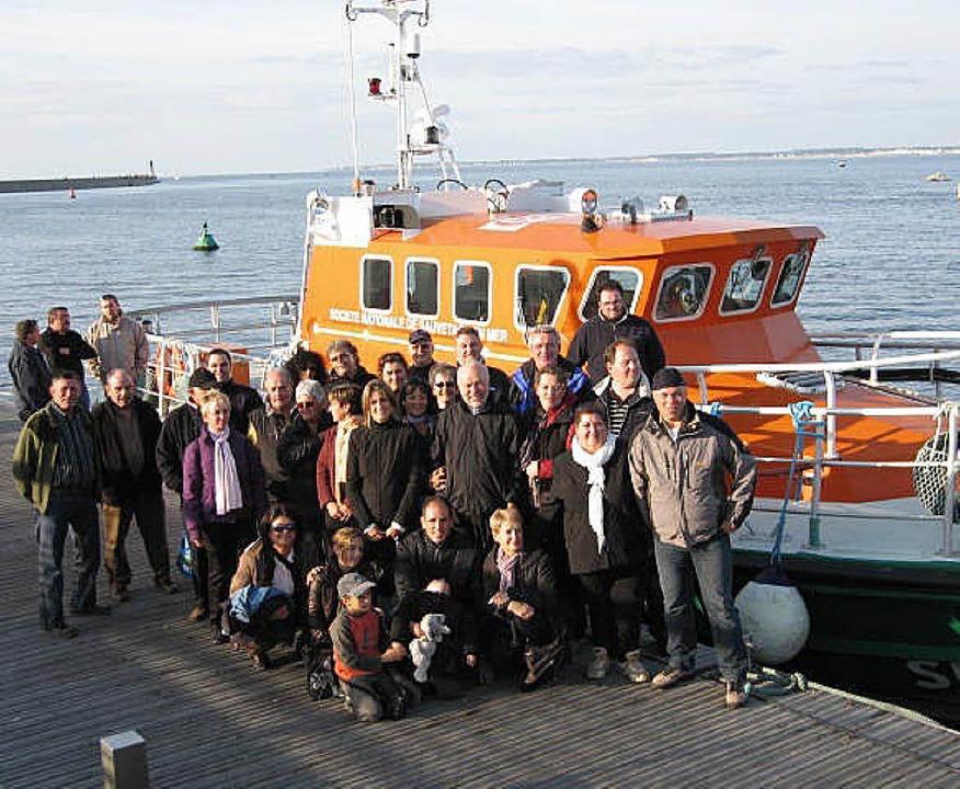 Zu Gast in Le Croisic:  Eine Delegatio...ses des Seenotrettungsdienstes  teil.   | Foto: BZ
