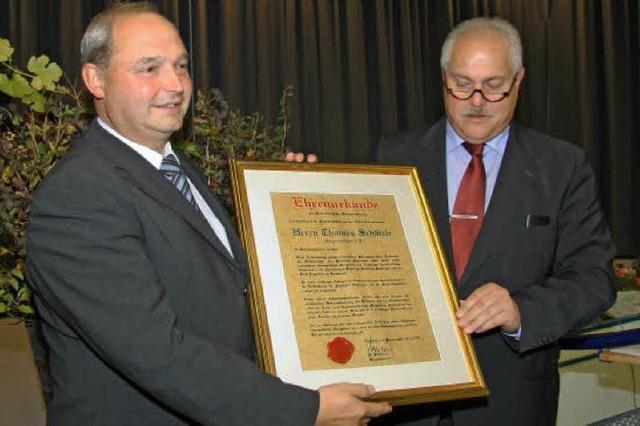 Bürgermedaille für Thomas Schätzle