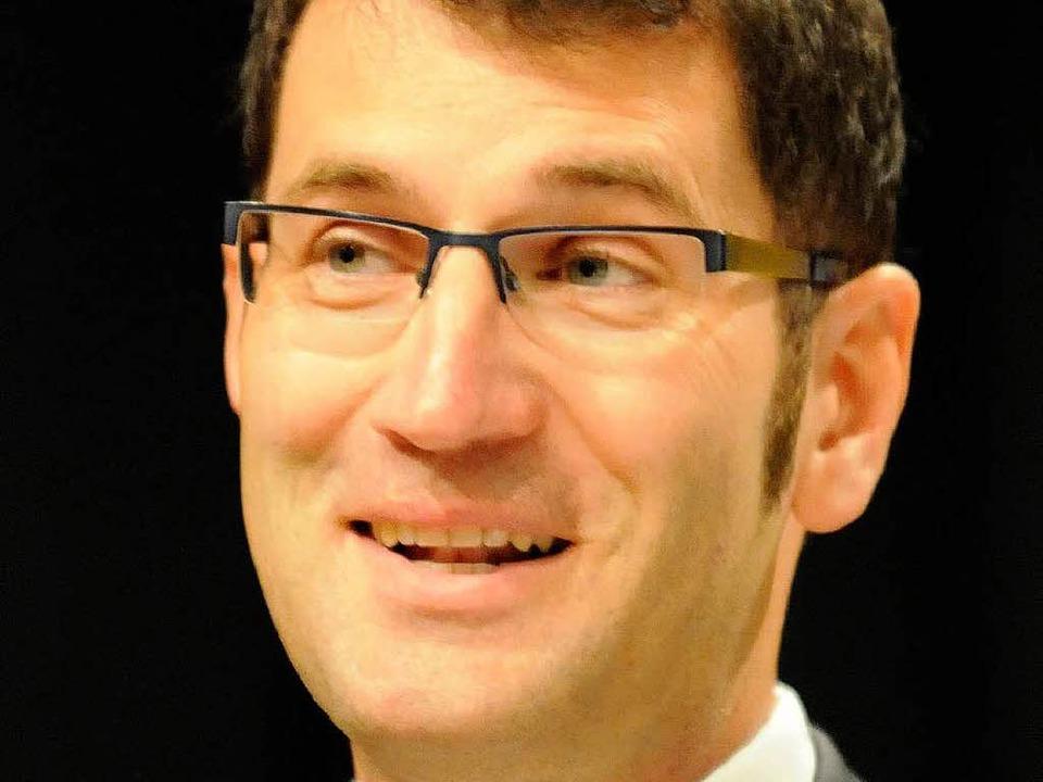 Lars Brügner hat es im ersten Wahlgang...r ist neuer Bürgermeister Vörstettens.    Foto: Zimmermann-Duerkop