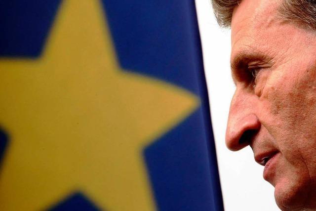 Oettinger nach Brüssel: