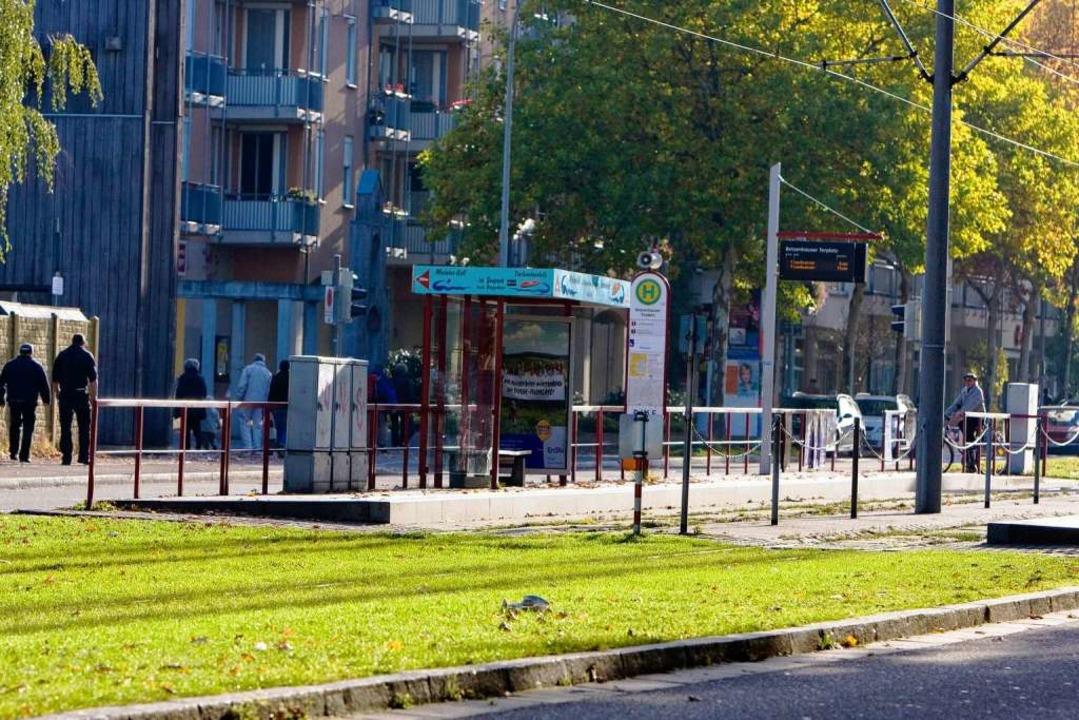 Die Haltestelle am Betzenhauser Torplatz.  | Foto: Dominic Rock