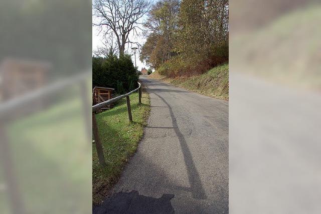 Gefahr an der steilen Straße