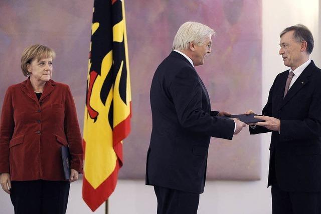Bundespräsident Köhler lobt die Große Koalition
