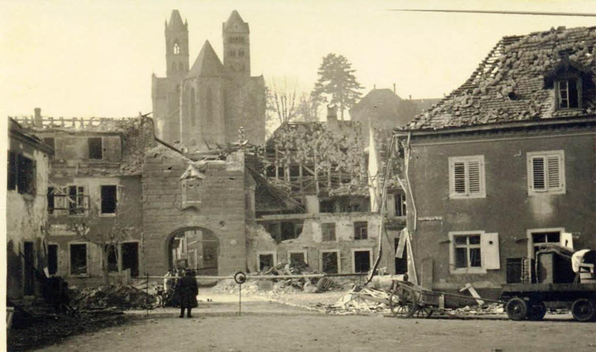 15 Häuser wurden bei dem Angriff zertsört.  | Foto: Stadtarchiv Breisach
