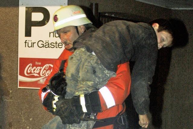 Kinder sauber evakuiert