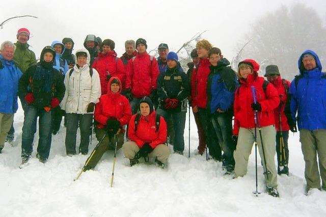 Wanderung im ersten Schnee